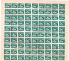 India 1955 Five Year Plan 1a.DAM  Complete Sheet of 90 Stamps MNH  FEW FOX MARKS