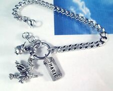 Magick Spells Witch Cauldron Stainless Steel Chain Bracelet Halloween Wicca USA