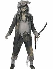 Mens Ghost Ship Ghoul Fancy Dress Costume Halloween Pirate Zombie Sailor