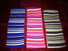 Set of 3 Striped Multi Coloured Kylie Hair Bands