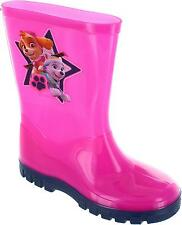 Paw Patrol Welly Girl's Pink Pull On Waterproof Wellington Boots Wellies New