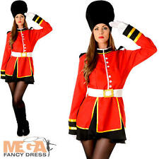 Royal Busby Guard Ladies Fancy Dress National British Uniform Adults Costume New