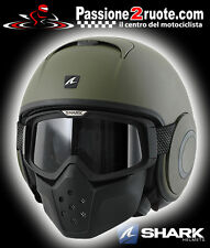 casque jet casque capacete casque Shark raw verde mat green mat