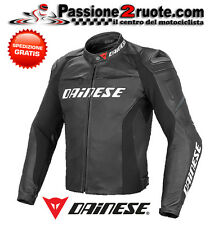 Chaqueta Dainese Racing D1 cuero negro black moto leather jacket