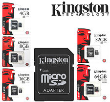 GENUINE KINGSTON 4/8/16/32/64 GB MICRO SD CARD Flash Card 45MB/s, CLASS 4/10