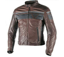 Chaqueta Dainese Blackjack piel marrón oscuro dark Marrón moto leather jacket