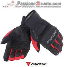 Guantes Dainese Embrague Evo D-dry negro rojo moto scooter