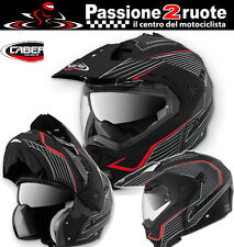 Caberg Tourmax Sonic black matt casco levante enduro motard berlina touring moto