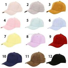 Women Men's Unisex Snapback adjustable Baseball Cap Hip Hop Hat Suede Flat Hat