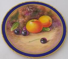 Superb Fruit Painted Plate By Leighton Maybury (Former Royal Worcester Artist)