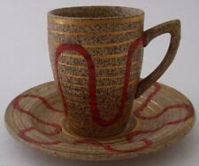 Stylish Clarice Cliff Bizarre Goldstone Cup And Saucer Duo - Art Deco