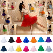 Womens Filles Tutu Tulle Court Jupon Full Circle Circulaire Jupe De Dance Ballet