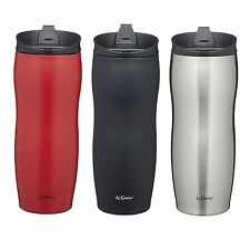 KitchenCraft Le'Xpress Double Walled Insulated Travel Mugs in Red/Black/Silver
