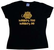 Monkey See Monkey Do Funny Ladies T-Shirt