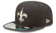 New Era NUOVO Orleans Saints NFL On Field Cap 5950 AUTHENTIC Fitted