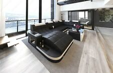 Interior Design WAVE U-shaped LED Luxury Design Sofa Corner couch Megasofa