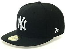 New Era York Yankees Cap Blanco Y Negro 59fifty Basic Fitted Basecap 5950 MLB