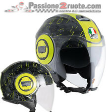 Casco Agv Fluid Ibiscus Top 46 valenitno Rossi black yellow nero giallo
