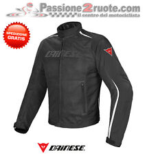 Jacket moto Dainese Hydra Flux D-dry black white perforated waterproof