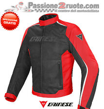 Giacca Dainese Hydra Flux D-dry nero rosso bianco 678 traforato impermeabile