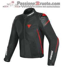 Jacket moto Dainese Super Rider D-dry black red texile and leather