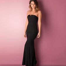 Womens Ax Paris Notch Slinky Maxi Dress In Black From Get The Label