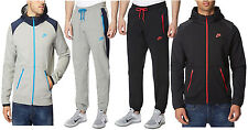 NIKE MENS JOGGING SUIT FLEECE TRAINING FASHION FULL TRACKSUIT BLACK/GREY