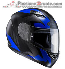 Casco integrale moto Hjc Cs15 Cs-15 Treague Mc2sf Mc-2sf nero blu black