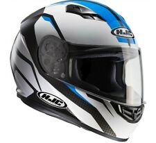 Casco integrale moto Hjc Cs15 Cs-15 Sebka Mc2 Mc-2 bianco blu