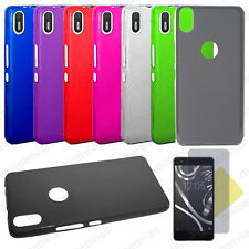 Funda carcasa + PROTECTOR PANTALLA BQ AQUARIS X5 PLUS Gel TPU Lisa Mate Colores