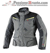 Dainese Sandstorm gris oscuro amarillo Gore-tex moto chaqueta impermeable
