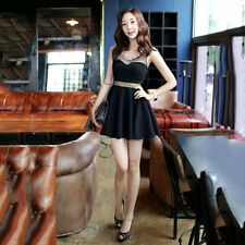 Korean Style Women Fashion Sleeveless Mini Length Lady Sexy Slim Cute Dress EW