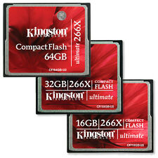 Kingston Ultimate Compact Flash (CF) Memory Cards 266x - 16GB, 32GB & 64GB
