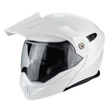 Casco apribile Scorpion Adx-1 bianco modulare adventure touring con frontino