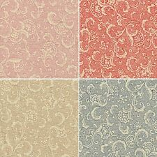 Swirly Blooming Rose Buds Floral Flowers 100% Cotton Fabric