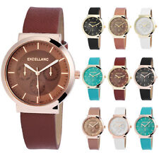 EXCELLANC MONTRE POUR FEMME SIMILICUIR BRACELET CHRONO LOOK WOMEN'S 1950-184