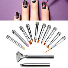10pcs/SET Nail Art Design Brush Gel Pen Tips Tool Nail Brush Nail Tool 10 Size