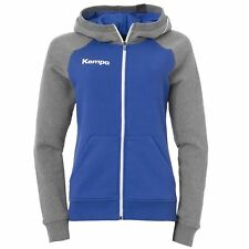 Kempa Fly High Kapuzenjacke Women Handball royal/grau melange Hoody Zipper Damen