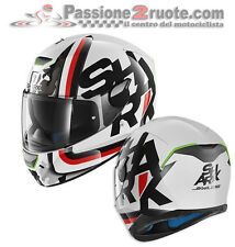 Casco Shark Skwal Cargo WKR bianco nero rosso white black red