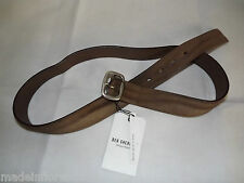 BEN SHERMAN BELT MH10943 ML BROWN LEATHER MADE IN ITALY LEATHER BELT