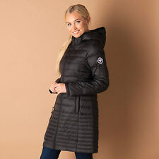 Womens Puffa Ultra Light Down Coat In Black From Get The Label