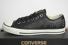 NUOVO ALL STAR CONVERSE Chucks Low Pelle Borchie Sneaker 542417c TGL 41 UK 7,5