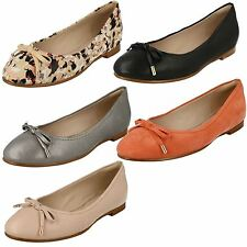Ladies Clarks Slip On Ballerina Flat Dolly Shoes Style - Grace Lily