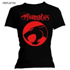 Official Skinny T Shirt THUNDERCATS Marvel Black Red LOGO Classic All Sizes