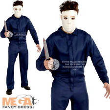 Michael Myers Mens Licensed Halloween Movie Fancy Dress Murderer Costume Outfit