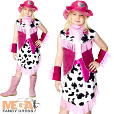 Rodeo Girls Fancy Dress Cowgirl Wild West Western Kids Childrens Costume Outfit