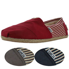 Toms University Rope Men's Espadrille Slip On Shoes UK Sizes