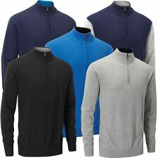 30% OFF RRP STUBURT MENS URBAN HALF ZIP NECK SWEATER GOLF WINTER PULLOVER