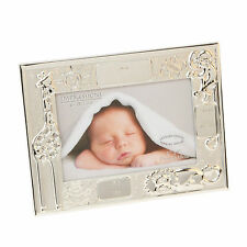 "Personalised Engraved Baby Birth Record data Photo Frame 4"" x 6"" New Baby Gift"
