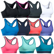 2018 Under Armour Womens Armour Mid Impact Solid Sports Bra -New UA Gym Vest Top